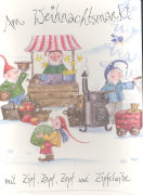 Cover-Bild zu Am Weihnachtsmarkt mit Zipf, Zapf, Zepf und Zipfelwitz von Räss, Daniela (Idee von)