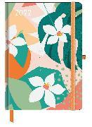 Cover-Bild zu GreenLine Diary Floral 2022 - Buchkalender - Taschenkalender - 16x22