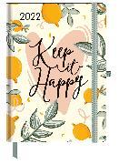 Cover-Bild zu GreenLine Diary Green Vibes 2022 - Buchkalender - Taschenkalender - 16x22