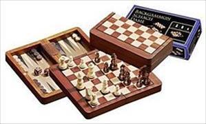 Cover-Bild zu Schach-Backgammon-Dame-Set, magnetisch