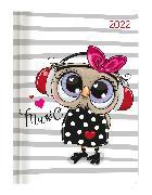 Cover-Bild zu Minitimer Style Eule 2022 - Taschen-Kalender A6 - Weekly - 192 Seiten - Notiz-Buch - mit Info- und Adressteil - Alpha Edition