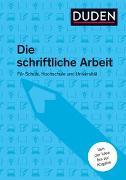 Cover-Bild zu Duden Ratgeber - Die schriftliche Arbeit von Niederhauser, Jürg