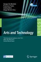 Cover-Bild zu De Michelis, Giorgio (Hrsg.): Arts and Technology