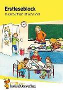 Cover-Bild zu Heiß, Helena: Erstleseblock - In der Schule ist was los!, A5-Block