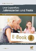 Cover-Bild zu Lese-Leporellos: Jahreszeiten und Feste Kl. 3/4 (eBook) von Neubauer, Annette