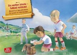 Cover-Bild zu Die weißen Schuhe - Fußball verbindet. Kamishibai Bildkartenset von Arbab, Maneis
