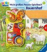 Cover-Bild zu Mein großes Puzzle-Spielbuch Bauernhof von Möller, Anne