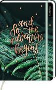 Cover-Bild zu myNOTES Notizbuch A5: And so the Adventure begins - notebook medium, dotted - für Träume, Pläne und Ideen / ideal als Bullet Journal oder Tagebuch