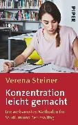 Cover-Bild zu Konzentration leicht gemacht von Steiner, Verena