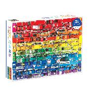 Cover-Bild zu Rainbow Toy Cars 1000 Piece Puzzle von Galison