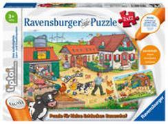 Cover-Bild zu Görtler, Carolin (Illustr.): Ravensburger tiptoi 00066 Puzzle für kleine Entdecker: Bauernhof, Puzzle für Kinder ab 3 Jahren, für 1 Spieler