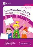 Cover-Bild zu 10-Minuten-Tests Deutsch - Klasse 3/4 von Herrler, Dörthe