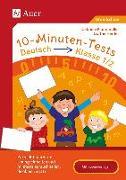 Cover-Bild zu 10-Minuten-Tests Deutsch - Klasse 1/2 von Herrler, Dörthe