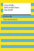 Cover-Bild zu Kafka, Franz: Brief an den Vater / Das Urteil. Textausgabe mit Kommentar und Materialien