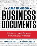 Cover-Bild zu Wilson, Kevin: The AMA Handbook of Business Documents