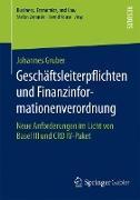 Cover-Bild zu Gruber, Johannes: Geschäftsleiterpflichten und Finanzinformationenverordnung