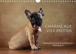 Cover-Bild zu Behr, Jana: Charme auf vier Pfoten - Französische Bulldoggen Portraits (Wandkalender 2021 DIN A4 quer)