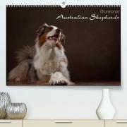 Cover-Bild zu Behr, Jana: Charmante Australian Shepherds (Premium, hochwertiger DIN A2 Wandkalender 2022, Kunstdruck in Hochglanz)