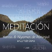 Cover-Bild zu Galindo, Wilma Eugenia Juan: Meditación - Yamas & Niyamas de Patanjali en la Vida Diaria (Audio Download)