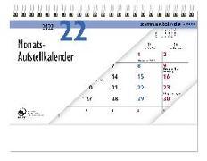 Cover-Bild zu Tischaufstellkalender 2022 - 20x15 cm - 1 Monat auf 1 Seite - 4-sprachiges Kalendarium - inkl. Jahresübersicht - Monatsplaner - 985-0000