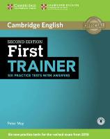 Cover-Bild zu Cambridge English. First Trainer. Six Practice Tests with Answers von May, Peter