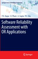 Cover-Bild zu Gupta, A.: Software Reliability Assessment with OR Applications