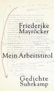 Cover-Bild zu Mayröcker, Friederike: Mein Arbeitstirol