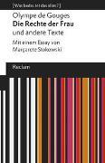 Cover-Bild zu de Gouges, Olympe: Die Rechte der Frau und andere Texte