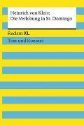 Cover-Bild zu von Kleist, Heinrich: Die Verlobung in St. Domingo. Textausgabe mit Kommentar und Materialien