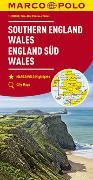 Cover-Bild zu MARCO POLO Karte Großbritannien England Süd, Wales 1:300 000. 1:300'000
