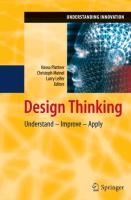 Cover-Bild zu Plattner, Hasso (Hrsg.): Design Thinking