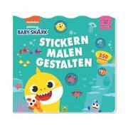 Cover-Bild zu Schwager & Steinlein Verlag: Baby Shark: Stickern, Malen, Gestalten