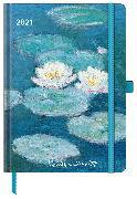 Cover-Bild zu Monet 2021 - Buchkalender - Taschenkalender - Kunstkalender - 16x22