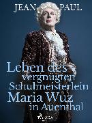 Cover-Bild zu Paul, Jean: Leben des vergnügten Schulmeisterlein Maria Wuz in Auenthal (eBook)