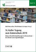 Cover-Bild zu Kieser, Ueli (Hrsg.): St.Galler Tagung zum Datenschutz 2019