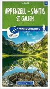 Cover-Bild zu Hallwag Kümmerly+Frey AG (Hrsg.): Appenzell - Säntis - St. Gallen Nr. 09 Wanderkarte 1:40 000. 1:40'000