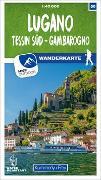 Cover-Bild zu Hallwag Kümmerly+Frey AG (Hrsg.): Lugano - Tessin Süd - Gambarogno Nr. 50 Wanderkarte 1:40 000. 1:40'000