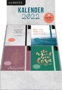 Cover-Bild zu Display myNOTES Buchkalender 2022. Mit 4 x 6 Ex