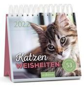 Cover-Bild zu Postkartenkalender Katzenweisheiten 2022