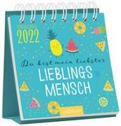 Cover-Bild zu Minikalender Du bist mein liebster Lieblingsmensch 2022