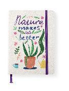 Cover-Bild zu teNeues Calendars & Stationery GmbH & Co. KG: Green Vibes 16x22 cm - GreenLine Journal - 176 Seiten, Punktraster und blanko - Hardcover - gebunden