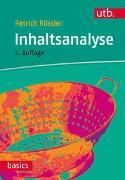 Cover-Bild zu Rössler, Patrick: Inhaltsanalyse