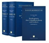 Cover-Bild zu Bauer, Thomas (Hrsg.): Bundesgesetz über Schuldbetreibung und Konkurs I (Art. 1-158 SchKG) + II (Art. 159-352 SchKG) + Ergänzungsband