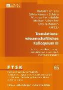 Cover-Bild zu Translationswissenschaftliches Kolloquium III (eBook) von Ahrens, Barbara (Hrsg.)