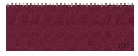 Cover-Bild zu Tischquerkalender Professional Premium rot 2022