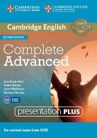 Cover-Bild zu Complete Advanced. Presentation Plus DVD-ROM von Brook-Hart, Guy
