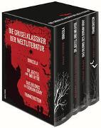 Cover-Bild zu Shelley, Mary: Die Gruselklassiker der Weltliteratur (Bram Stoker, Dracula - R.L. Stevenson, Dr. Jekyll und Mr. Hyde - Oscar Wilde, Das Bildnis des Dorian Gray - Mary Shelley, Frankenstein) (4 Bände im Schuber)