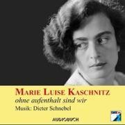 Cover-Bild zu Ohne aufenthalt sind wir von Kaschnitz, Marie Luise