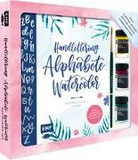 Cover-Bild zu Handlettering Alphabete Watercolor - Das Starter-Set - Feine Buchstaben mit Pinsel und Brush Pen von Janssen, Martina Johanna
