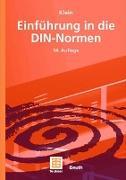 Cover-Bild zu Einführung in die DIN-Normen von Klein, Martin